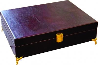 جعبه پذیرایی تبلیغاتی چرم سایز 3