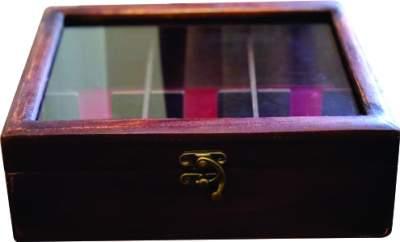 جعبه پذیرایی تبلیغاتی چوب و شیشه سایز 1
